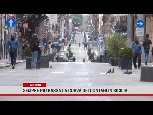 Sempre più bassa la curva dei contagi in Sicilia