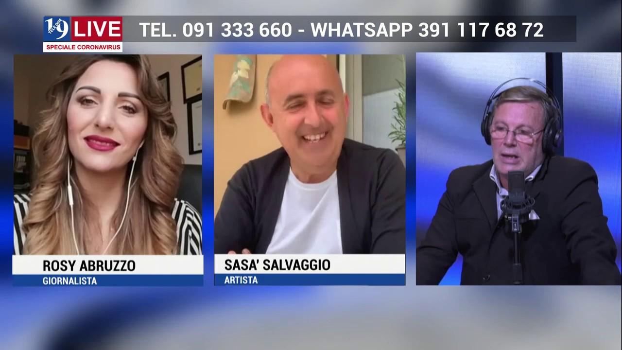 TELE ONE: SASA SALVAGGIO e ROSY ABRUZZO in diretta TV su 19 LIVE