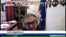 TOTO' MARTELLO SINDACO DI LAMPEDUSA IN DIRETTA SU TELE ONE IN 19 LIVE