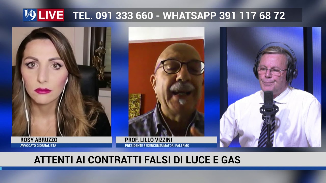 19 LIVE FEDERCONSUMATOR, CONTRATTI FALSI DI LUCE E GAS