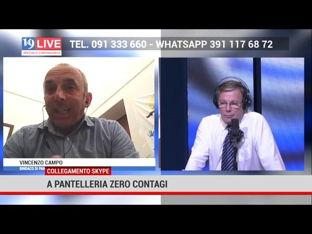 A Pantelleria zero contagi, l'intervista al Sinndaco Vincenzo Campo