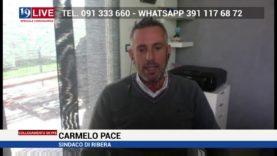Carmelo Pace Sindaco di Ribera in diretta TV su Tele One