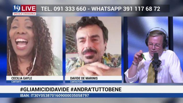 CECILIA GAYLE e DAVIDE DE MARINIS IN DIRETTA TV SU TELE ONE IN 19 LIVE