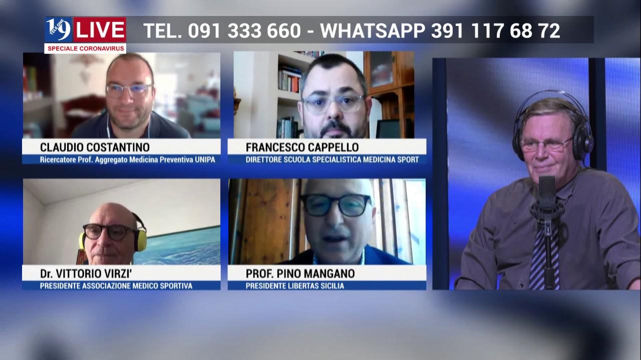 CLAUDIO COSTANTINO, FRANCESCO CAPPELLO, VITTORIO VIRZI' e PINO MANGANO IN DIRETTA SU TELE ONE