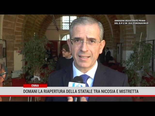 Enna. Domani la riapertura della statale tra Nicosia e Mistretta