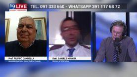 FILIPPO CANNELLA e DANIELE NOVARA IN DIRETTA TV SU TELE ONE IN 19 LIVE