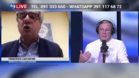 FRANCESCO CACCIATORE SINDACO DI SANTO STEFANO DI QUISQUINA IN DIRETTA TV SU TELE ONE IN 19 LIVE