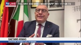 GAETANO ARMAO ASSESSORE ECONOMIA IN DIRETTA TV SU TELE ONE IN 19 LIVE