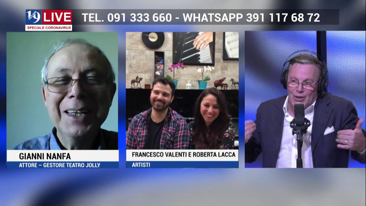 GIANNI NANFA, FRANCESCO VALENTI e ROBERTA LACCA in Diretta TV su Tele One in 19 Live