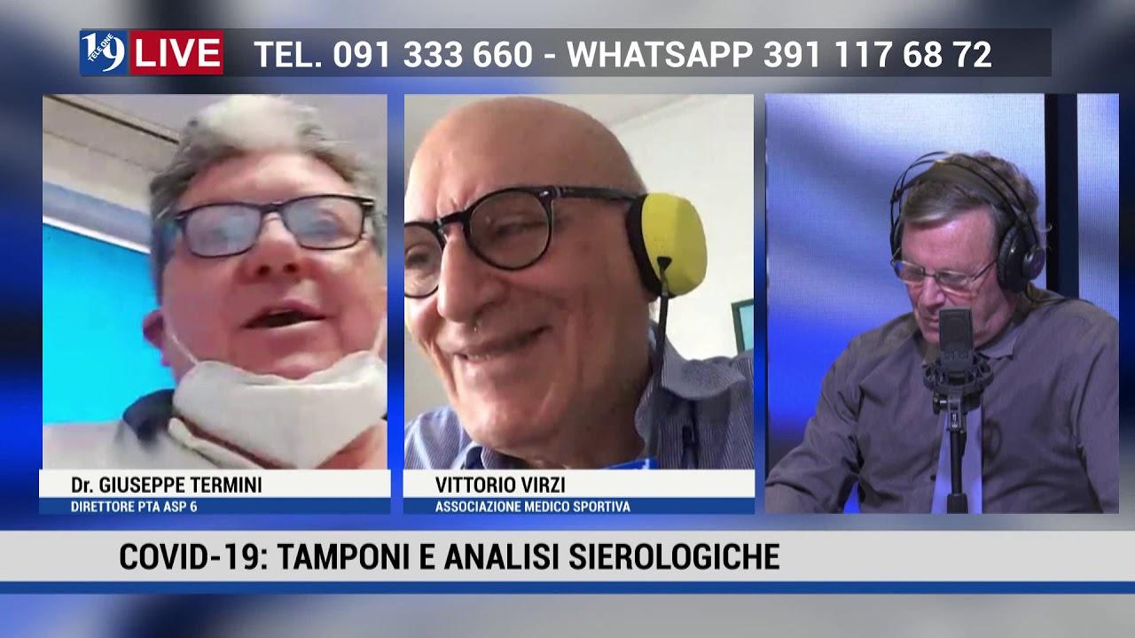 GIUSEPPE TERMINI DIRETTORE ASP 6 E VITTORIO VIRZI IN DIRETTA TV SU TELE ONE IN 19 LIVE