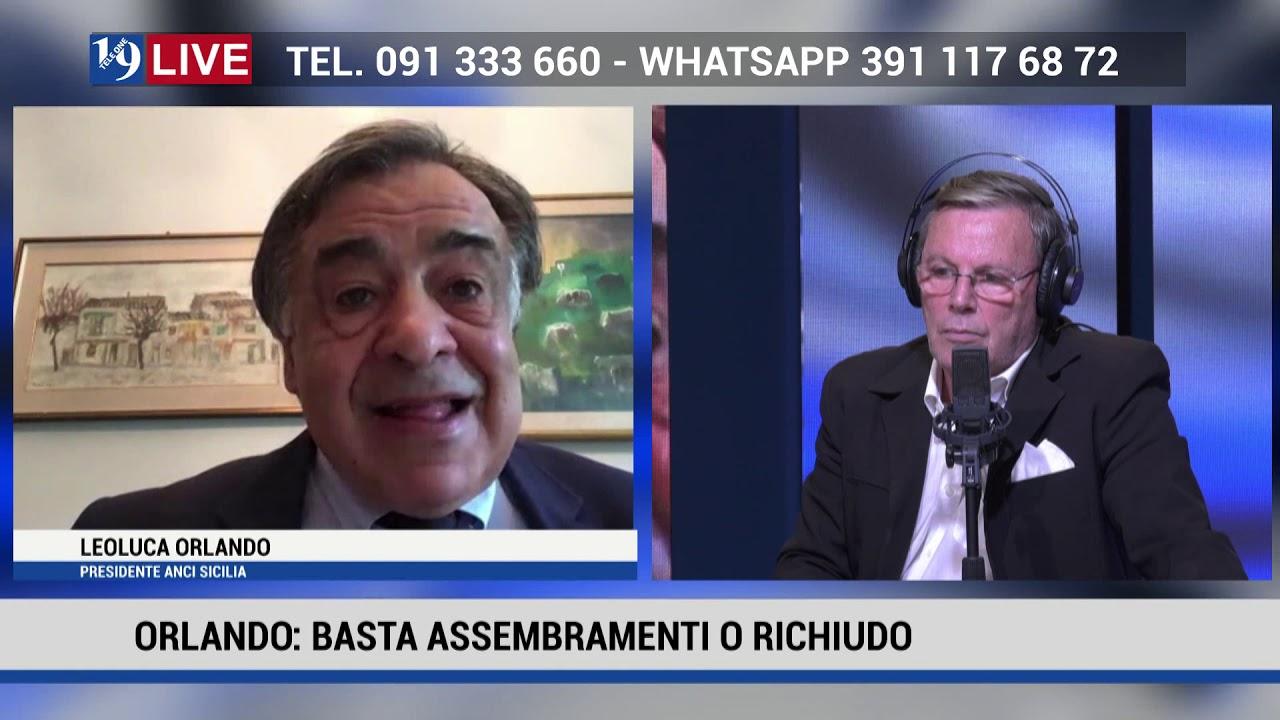 LEOLUCA ORLANDO SINDACO DI PALERMO IN DIRETTA TV SU TELE ONE IN 19 LIVE