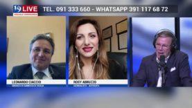 LEONARDO CIACCIO SINDACO di Sambuca di Sicilia e ROSY ABRUZZO IN DIRETTA TV SU TELE ONE IN 19 LIVE
