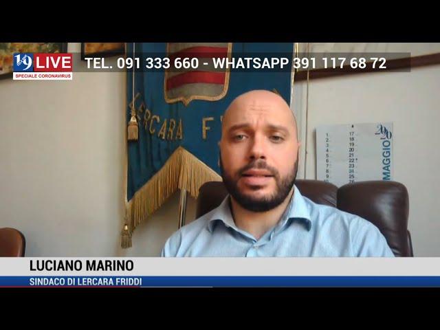 LUCIANO MARINO SINDACO DI LERCARA FRIDDI IN DIRETTA TV SU TELE ONE IN 19 LIVE