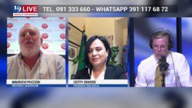 MAURIZIO PUCCERI E CETTY GRASSO IN DIRETTA TV SU TELE ONE IN 19 LIVE
