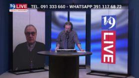 MONSIGNOR DOMENICO MOGAVERO  VESCOVO DI MAZARA DEL VALLO IN DIRETTA TV SU TELE ONE IN 19 LIVE