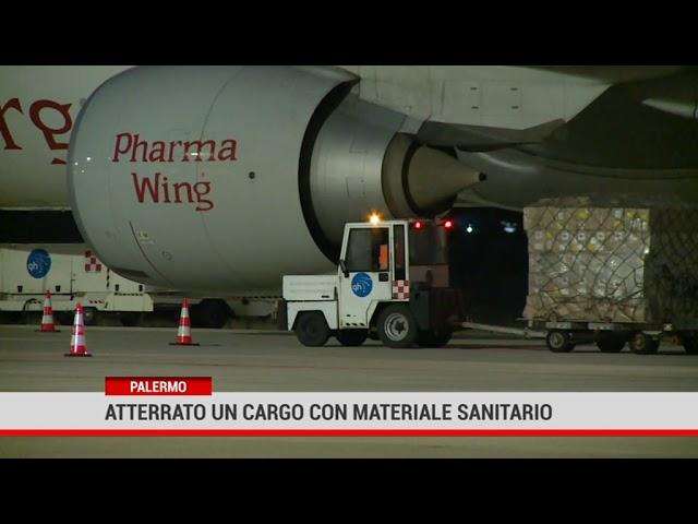 Palermo. Atterrato un cargo con materiale sanitario