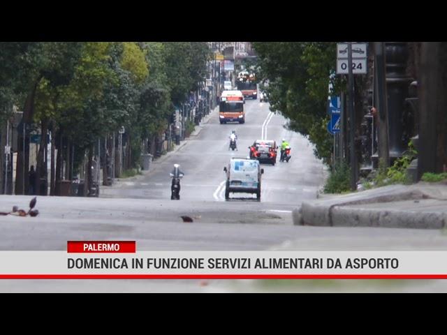 Palermo. Domenica in funzione servizi alimentari da asporto