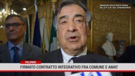 Palermo. Firmato contratto integrativo fra Comune e Amat