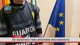 Palermo. La Guardia di Finanzaha sequestrato 75 mila mascherine senza marchio CE
