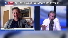 PIETRO MACALUSO SINDACO PETRALIA SOPRA IN DIRETTA TV SU TELE ONE IN 19 LIVE