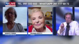 ROBERTO FERRARI E GIOVANNA NOCETTI IN DIRETTA TV SU TELE ONE IN 19 LIVE