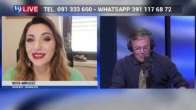 ROSY ABRUZZO e VINCENZO PRESTIGIACOMO IN DIRETTA TV SU TELE ONE IN 19 LIVE