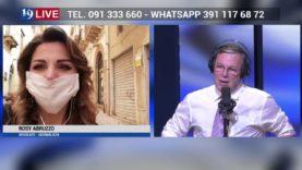ROSY ABRUZZO IN COLLEGAMENTO DA SCIACCA IN DIRETTA TV SU TELE ONE IN 19 LIVE