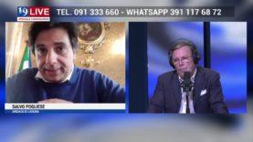 SALVO POGLIESE SINDACO DI CATANIA IN DIRETTA TV SU TELE ONE IN 19 LIVE