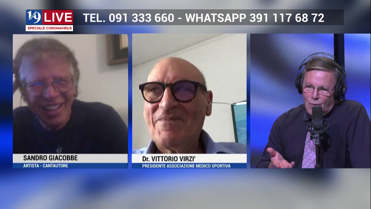 SANDRO GIACOBBE E VITTORIO VIRZI' IN DIRETTA TV SU TELE ONE IN 19 LIVA