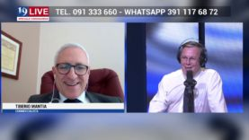TIBERIO MANTIA IN DIRETTA TV SU TELE ONE IN 19 LIVE