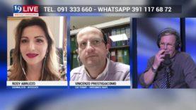 VINCENZO PRESTIGIACOMO e ROSY ABRUZZO IN DIRETTA TV SU TELE ONE IN 19 LIVE