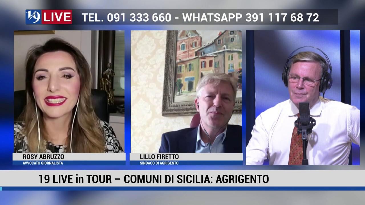 19 LIVE in TOUR  COMUNI DI SICILIA CON LILLO FIRETTO SINDACO DI AGRIGENTO