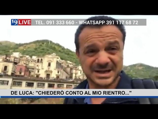 """19LIVE – DE LUCA   """"CHIEDERO' CONTO AL MIO RIENTRO…"""""""