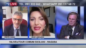 19LIVE in TOUR  COMUNI SICILIANI  RAGUSA E ALTAVILLA MILICIA CON I SINDACI PEPPE CASSI' E PINO VIRGA