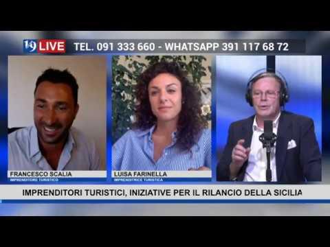 19LIVE   Sicilia e Turismo con Francesco Scalia #SicilyRentCar e Luisa Farinella #HotelCostaVerde