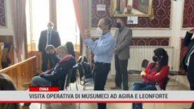 Enna. Visita operativa di Musumeci ad Agira e Leonforte