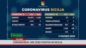 Palermo. Coronavirus: ieri zero positivi in Sicilia