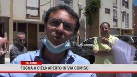 Palermo. Fogna a cielo aperto in via Comiso