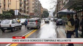 Palermo. Forte di scirocco e temporale nella notte