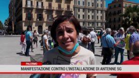 Palermo. Manifestazione contro l'installazione di antenne 5G