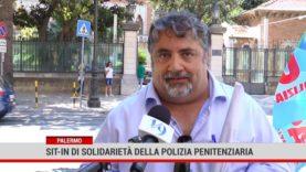 Palermo. Sit-in  di solidarietà della polizia penitenziaria