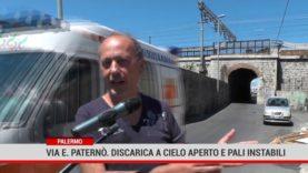 Palermo. Via E. Paternò. Discarica a cielo aperto e pali instabili