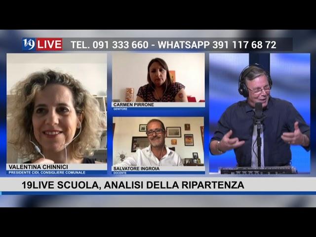 #19LIVESCUOLA, in studio @DanielaCrimi, con @ValentinaChinnici, @CarmenBonsignore, @SalvatoreIngroia