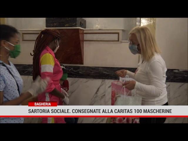 Bagheria. Sartoria sociale. Consegnate alla Caritas 100 mascherine