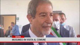 """Butera. Musumeci in visita al Comune. """" Il Borgo va restaurato"""""""