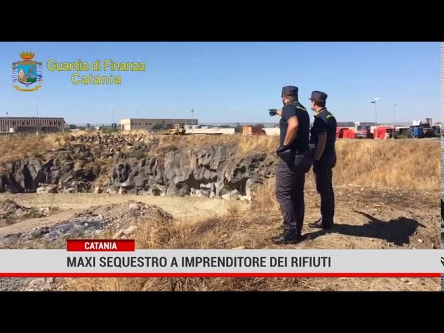 Catania. Maxi sequestro a imprenditore dei rifiuti