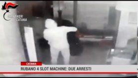 Catania. Rubano 4 slot machine: due arresti