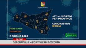 Coronavirus: 4 positivi e un deceduto