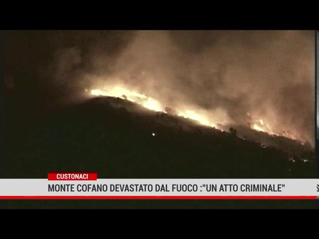"""Custonaci. Monte Cofano devastato dal fuoco per ore: """"Un atto criminale"""""""