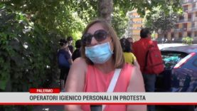 La protesta degli assistenti igienico personali di Messina